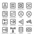 Network Equipment Icon Set vector image