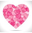 pink heart make big heart shape vector image