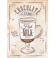 Poster chocolate milk kraft vector image