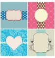 retro greeting cards set vector image