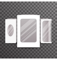 Paper Package Boxes Mock Up Set Realistic Icon vector image vector image