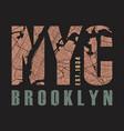new york brooklyn tee print vector image