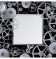 Metal gears design vector image