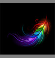 rainbow feather vector image