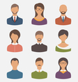 different human icons isolated on white background vector image