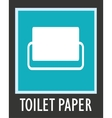 simple icon toilet paper vector image