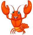 Cartoon lobster vector image