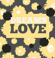 Vintage print and text love For t-shirt or other vector image