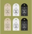 advertising sticker badge coffee shop vector image