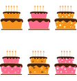 cartoon cake hand drawing isolated on white vector image