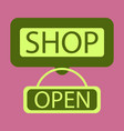 flat icon label store opened vector image