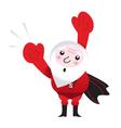 flying santa superhero vector image