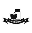healthy food logo simple black style vector image