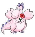 pink dragon vector image