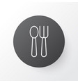 spoon with fork icon symbol premium quality vector image