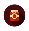 Tomato canned flat icon with long shadow vector image