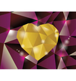Abstract diamond heart vector image vector image