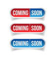 Coming Soon button sign vector image