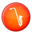 Saxophone icon flat style vector image