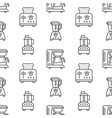 kitchen utensil small appliances seamless pattern vector image