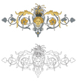 coat of arms with cherub bis vector image vector image