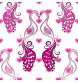 Seamless valentine vintage pattern vector image vector image