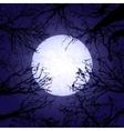 Halloween trees and moon vector image
