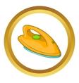 Orange iron icon vector image