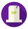 RIP Tombstone Circle Icon vector image