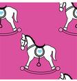 Rocking horse wallpaper vector image