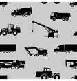 Seamless pattern of cars and vehicles vector image