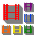 reel of film sign set of red orange yellow vector image