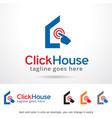 click house logo template design vector image