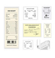 cash receipts colorful poster isolated on vector image