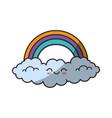 beautiful rainbow cartoon vector image