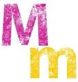 Multicolor grunge letter vector image