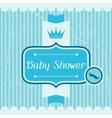 Boy baby shower invitation card vector image vector image