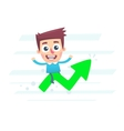 At the peak of commercial success vector image vector image