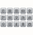Home electronics buttons vector image