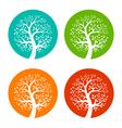 Set of Colorful Season Tree icons vector image