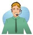 Young man a call operator eps10 vector image