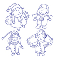 Cute happy children vector image