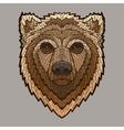 Bear head in mosaic style vector image