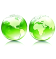 glossy earth globes vector image