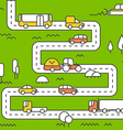 Different vehicle on a road City life minimalism c vector image