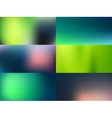 blurred backgrounds set vector image
