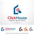 click house logo template design vector image