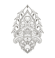 Floral leaf lotus Indian paisley ornament in vector image