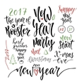 Happy New Year calligraphic set vector image