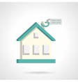 House for sale flat icon vector image